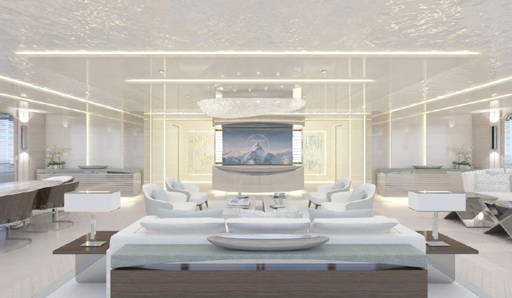 Infinity superyacht main lounge